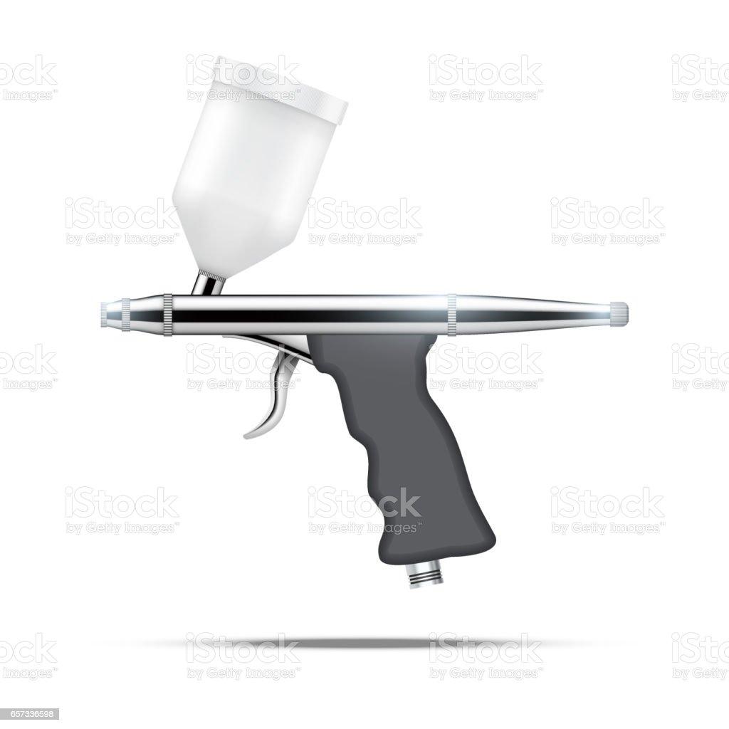 Airbrush with original design. vector art illustration
