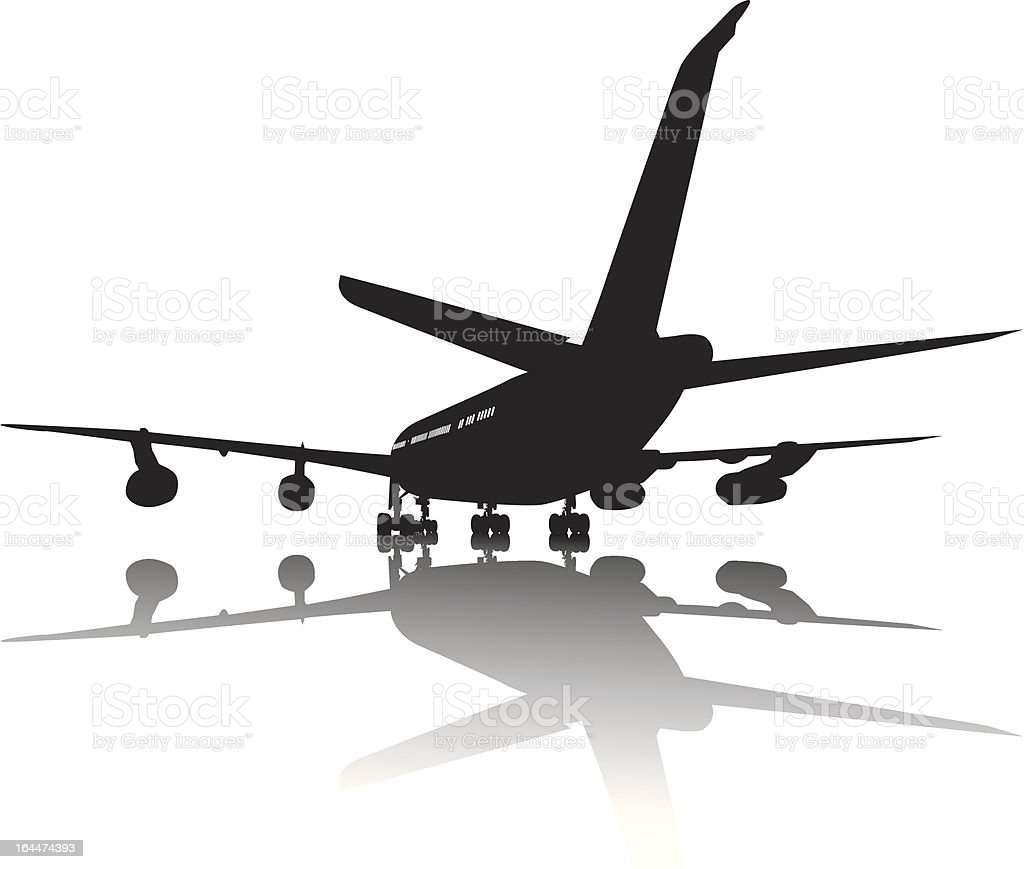 Aircraft silhouette royalty-free stock vector art