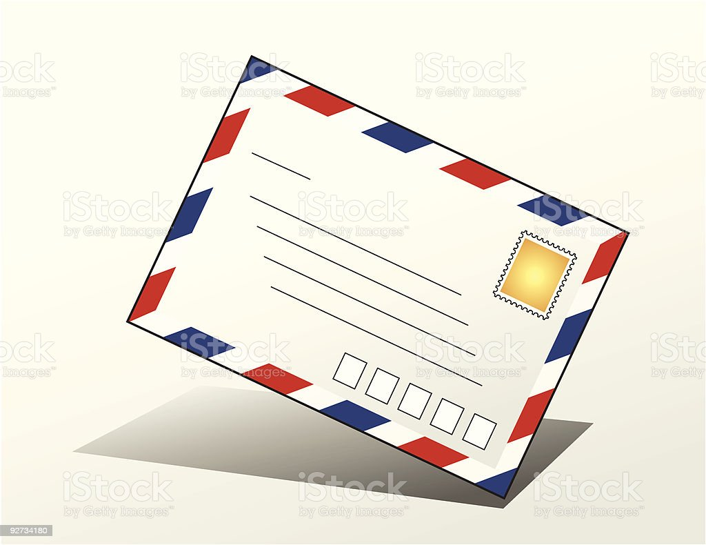 Airmail envelope royalty-free airmail envelope stock vector art & more images of air mail