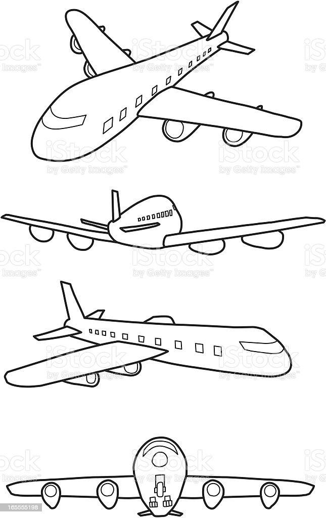 Ilustración de Avión Para Colorear y más banco de imágenes de ...