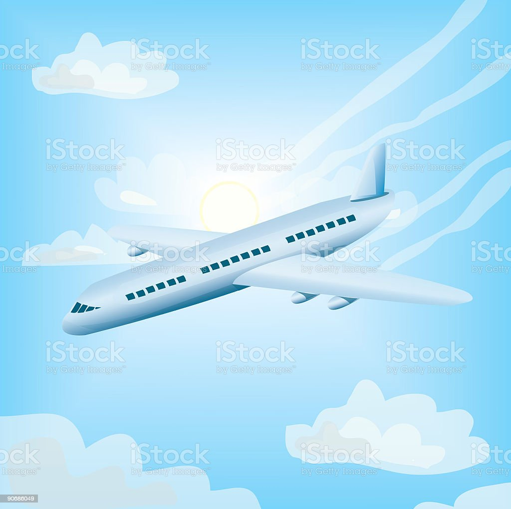 Airplane royalty-free airplane stock vector art & more images of airplane