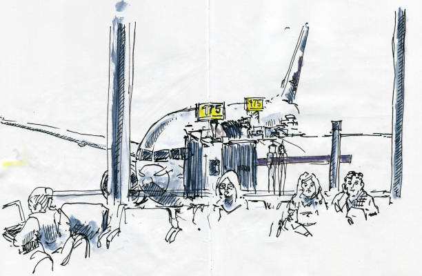 66 View Out Of Airplane Window Drawing Illustrations Royalty Free