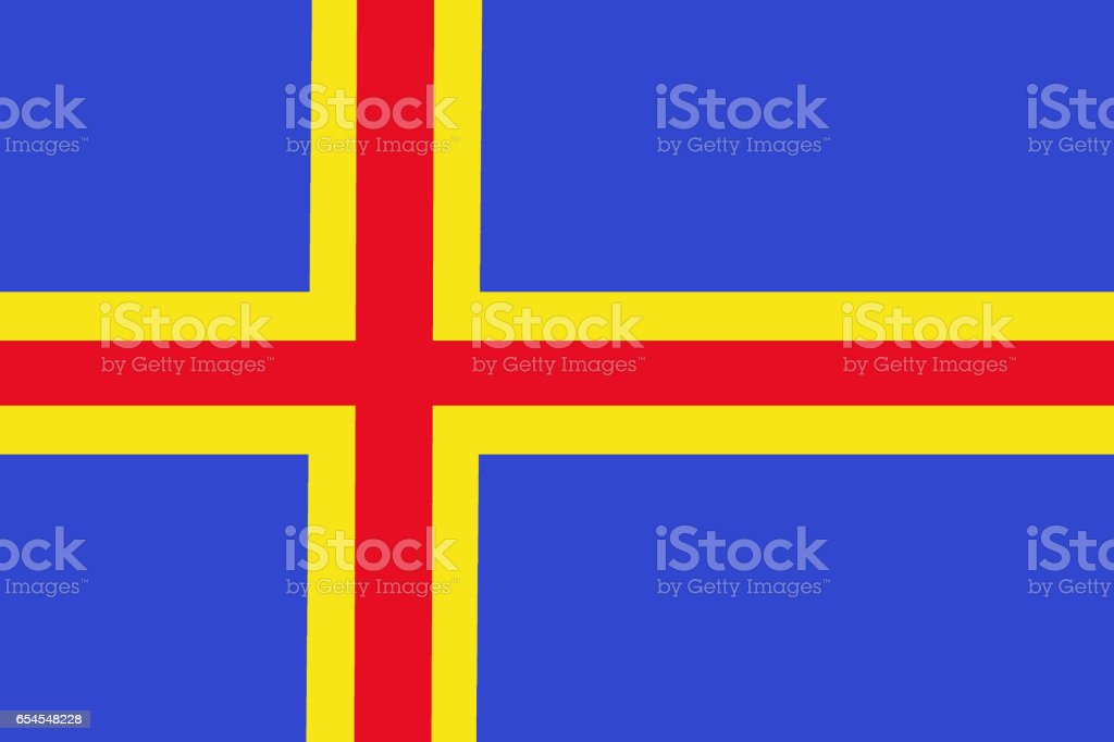Aland National Flag 3d Illustration Symbol Stock Illustration Download Image Now Istock