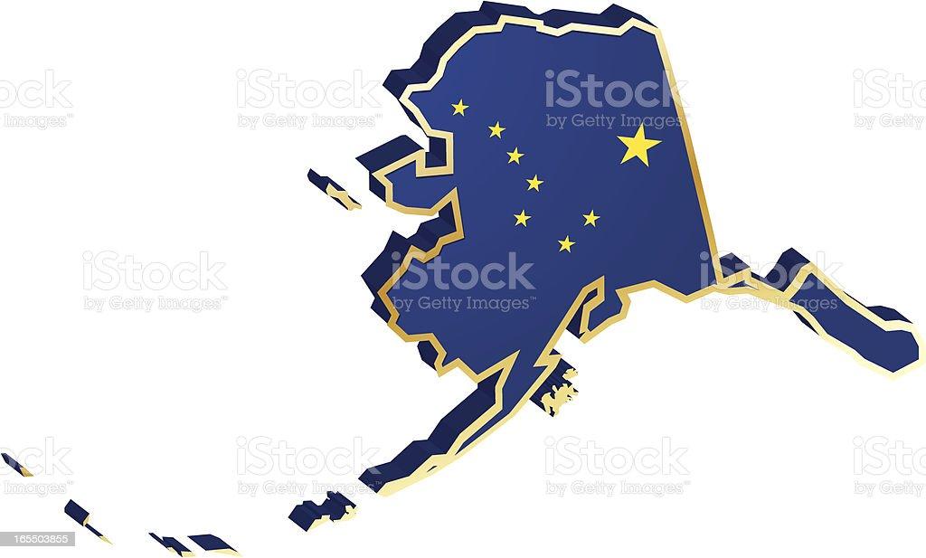 Alaska Flag 3D royalty-free alaska flag 3d stock vector art & more images of flag
