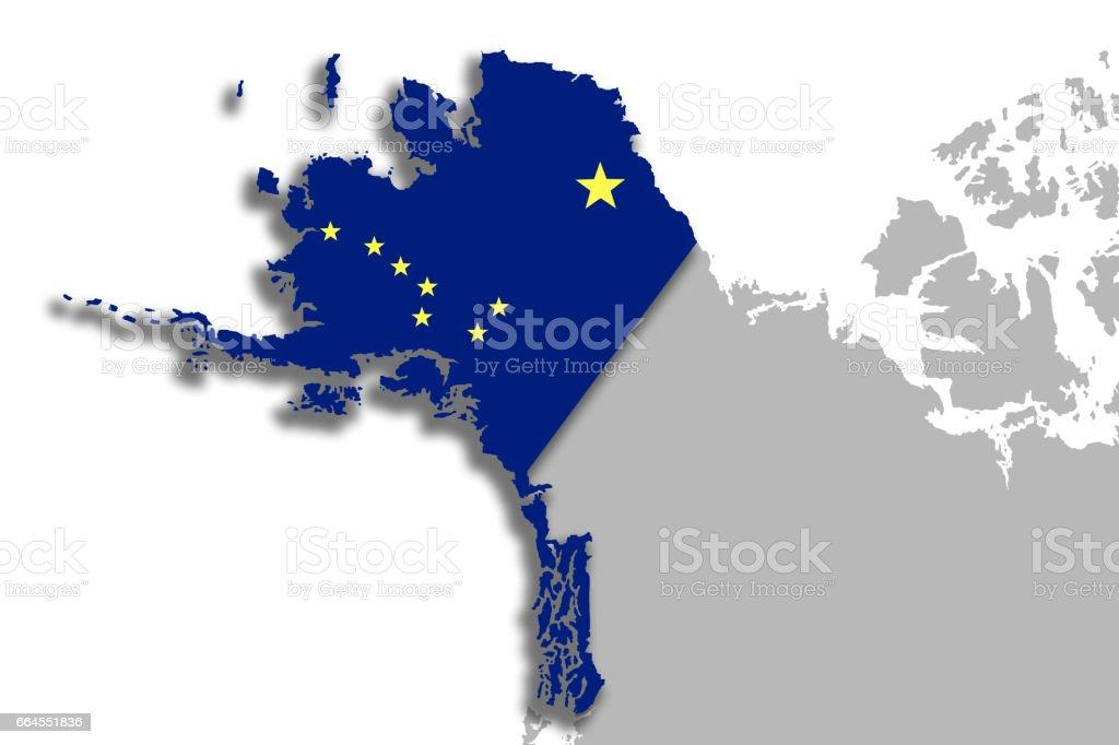 Alaska map and flag royalty-free alaska map and flag stock vector art & more images of alaska - us state