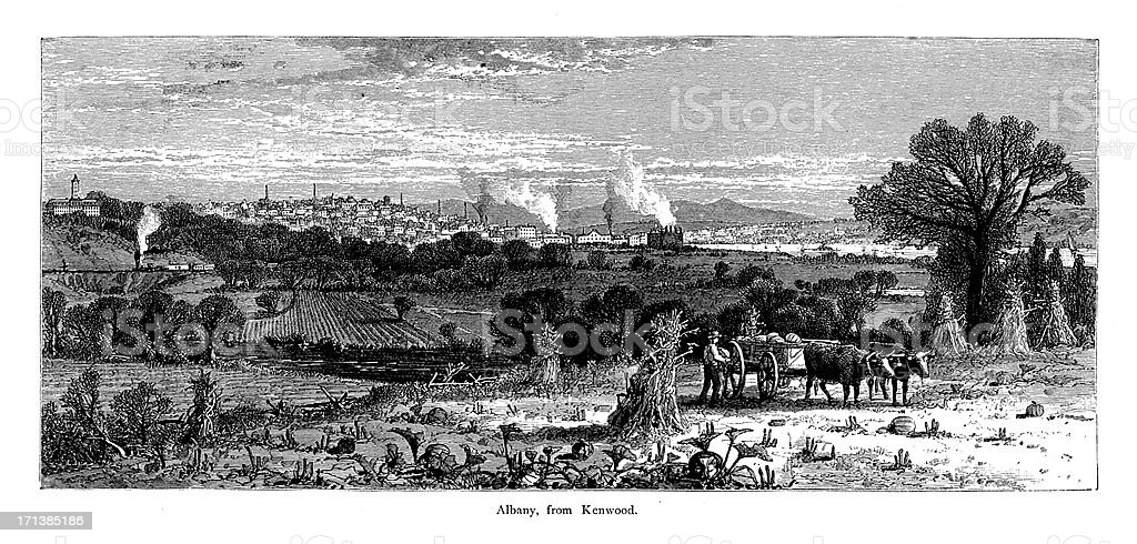 Albany, New York | Historic American Illustrations royalty-free albany new york historic american illustrations stock vector art & more images of 19th century