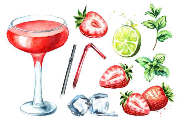 Best Red Margarita Illustrations, Royalty-Free Vector ...