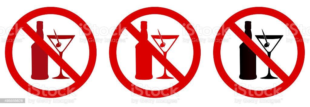 Alcohol free icon vector art illustration