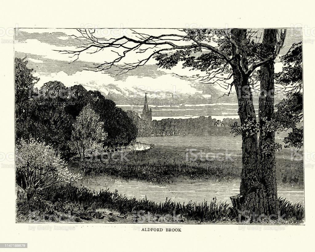 Aldford Brook Cheshire England Tributary Of The River Dee ... on