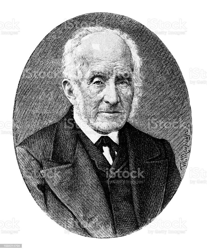 Alessandro Manzoni ,was an Italian poet and novelist vector art illustration