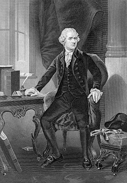 Alexander Hamilton famous American politician and founder vector art illustration