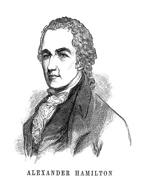 Alexander Hamilton, Founding Father of the United States vector art illustration