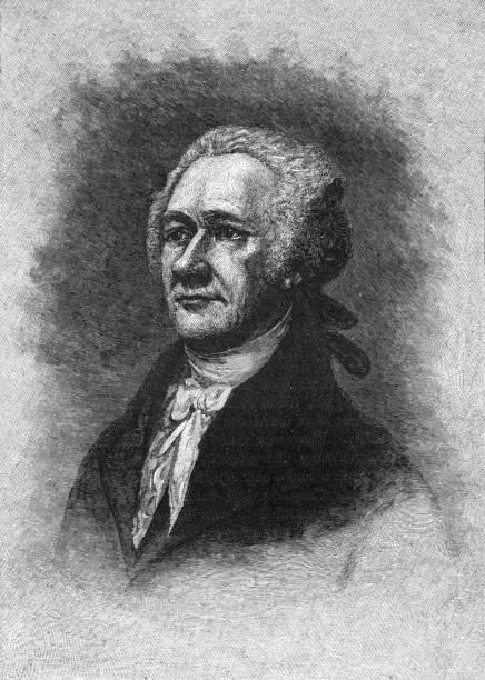 Alexander Hamilton vector art illustration