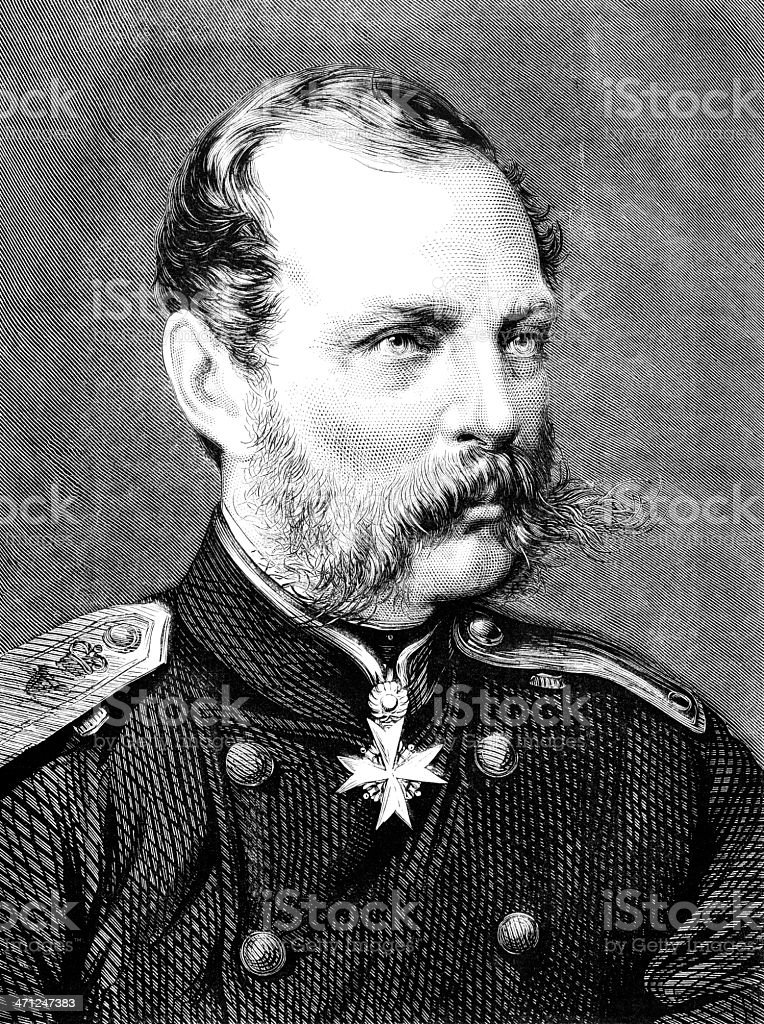 Alexander II, Emperor of Russia (1818-1881) contemporary illustration royalty-free alexander ii emperor of russia contemporary illustration stock vector art & more images of 1870-1879
