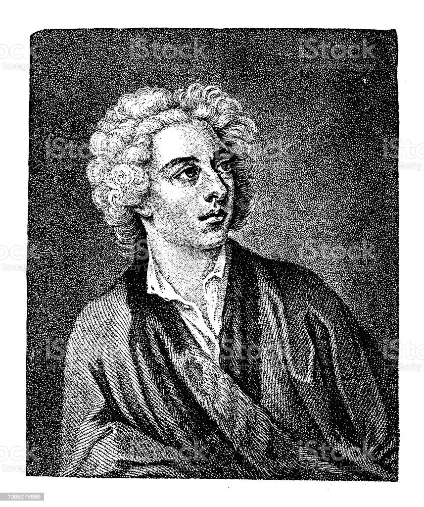 Alexander Pope (21 May 1688 – 30 May 1744) was an 18th-century English poet vector art illustration