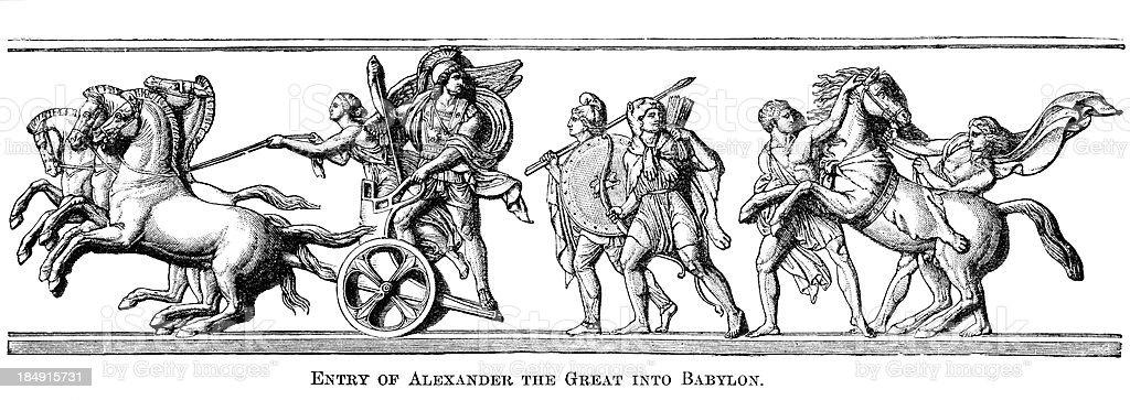Alexander The Great Entering Babylon royalty-free stock vector art