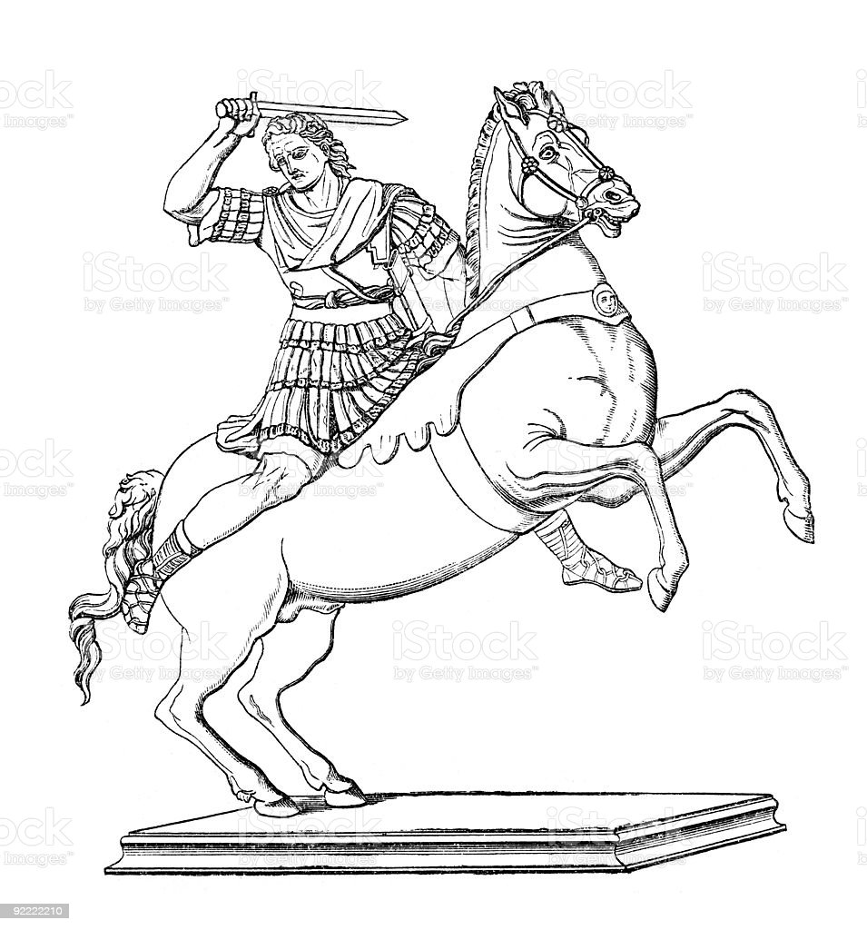 Alexander the Great royalty-free stock vector art