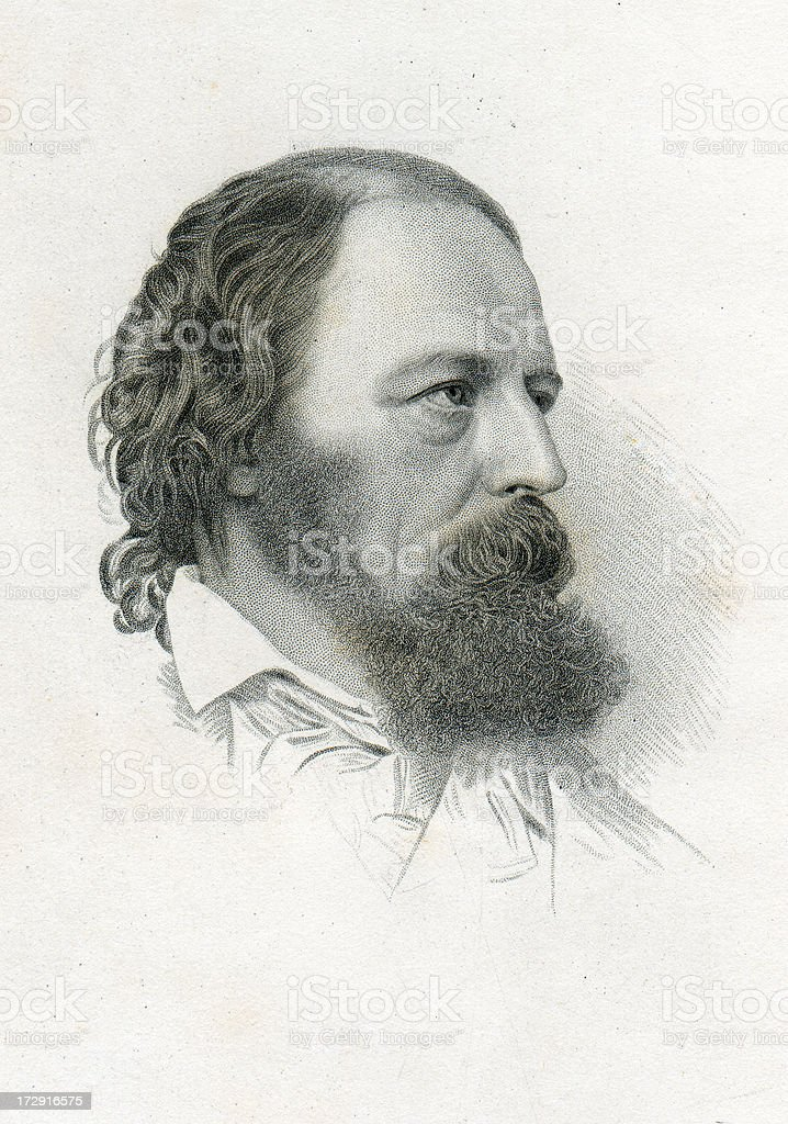 Alfred Tennyson royalty-free alfred tennyson stock vector art & more images of 1870-1879