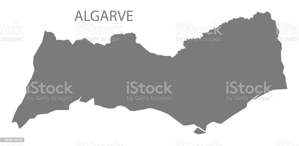 Algarve Portugal Map grey - Illustration vectorielle