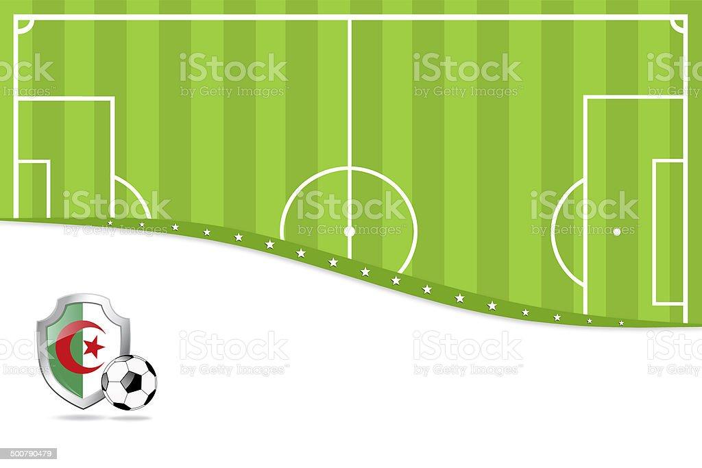 アルジェリアのサッカーの背景。 ベクターアートイラスト