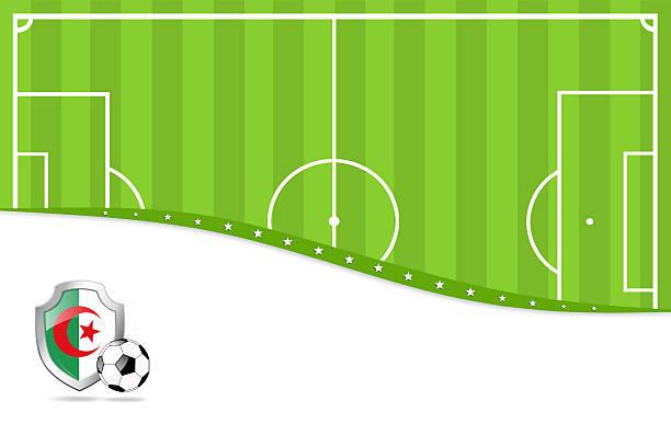 アルジェリアのサッカーの背景。 - グランドオープン点のイラスト素材/クリップアート素材/マンガ素材/アイコン素材