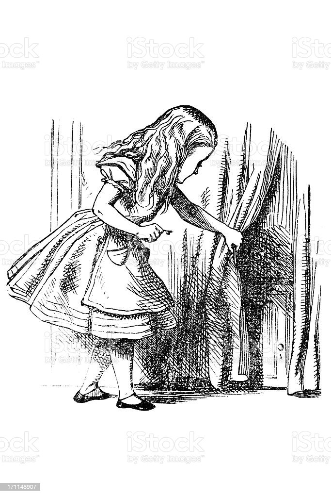Alice and the Door royalty-free alice and the door stock vector art & more images of alice in wonderland - fictional character