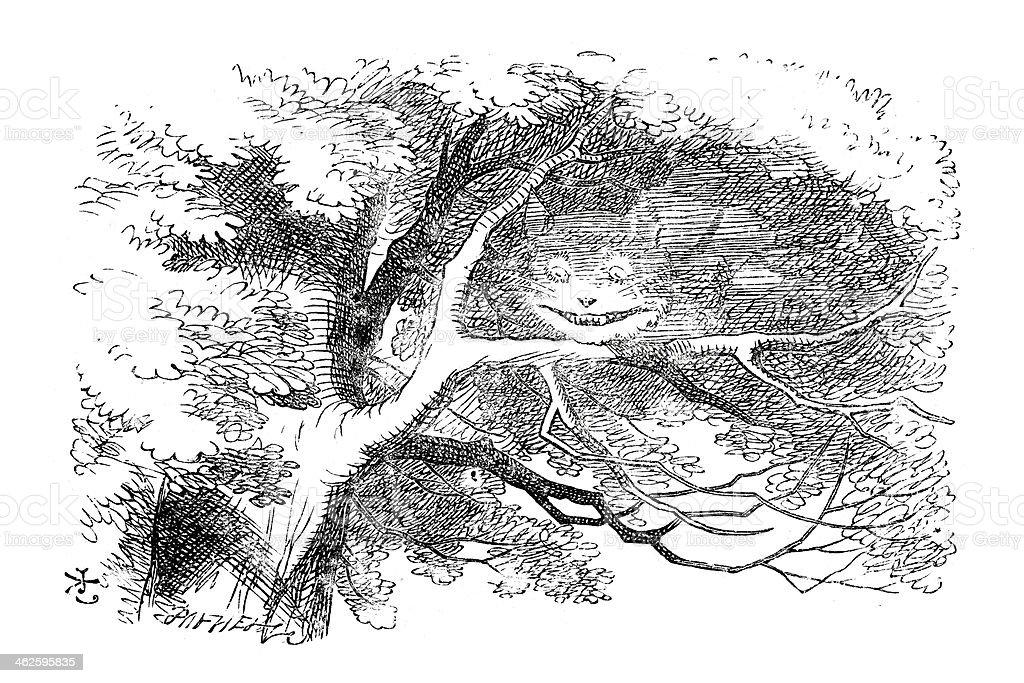 Alice W Krainie Cudówkot Z Cheshire Stockowe Grafiki Wektorowe I