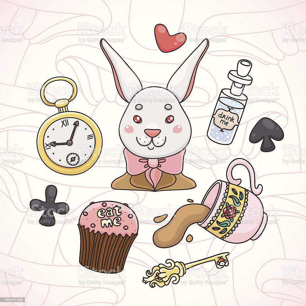 Alice in Wonderland royalty-free stock vector art