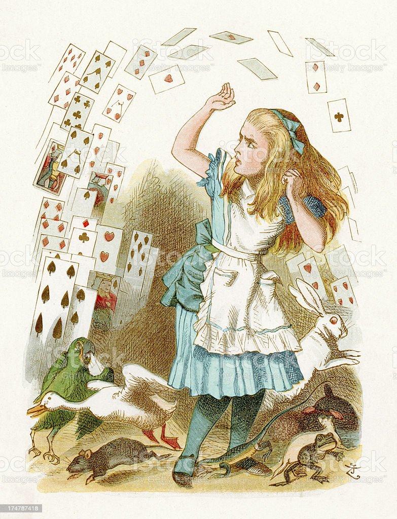 Alice in Paese delle meraviglie - illustrazione arte vettoriale
