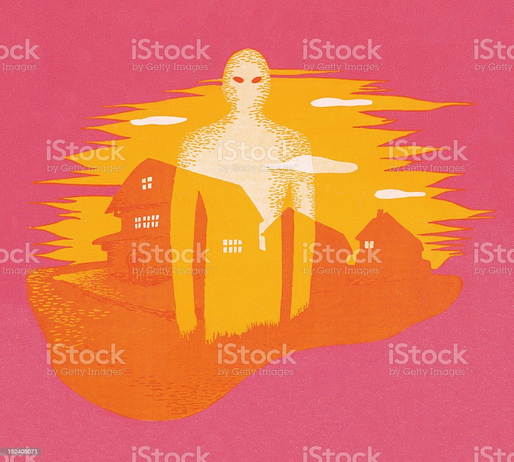 Alien and Houses royalty-free alien and houses stock vector art & more images of alien