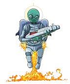 Alien invader.