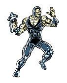 Alien wielding a hammer comic book character