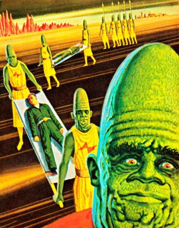 Aliens Taking a Human