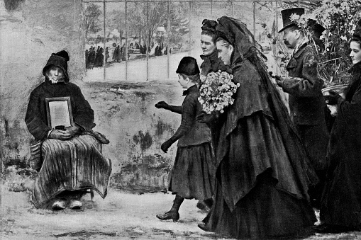 All Saints' Day by Émile Friant - 19th Century