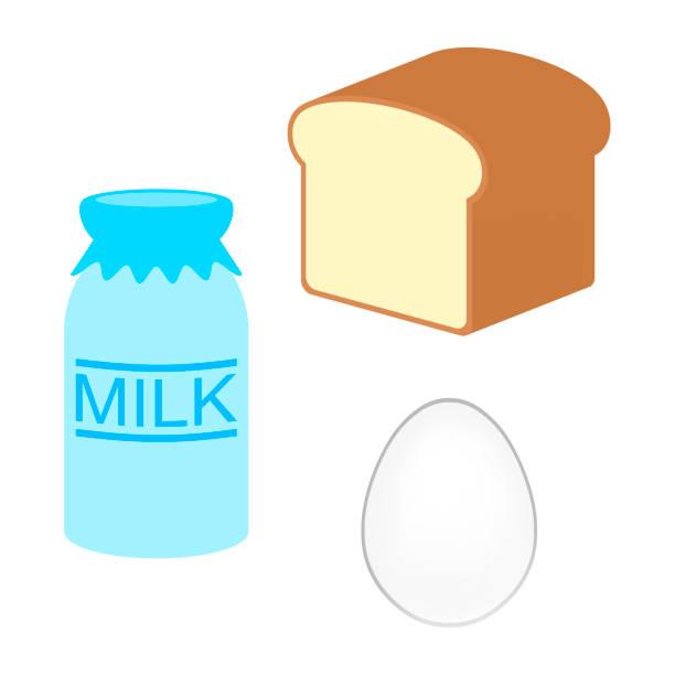 アレルギー食品 - 食パン点のイラスト素材/クリップアート素材/マンガ素材/アイコン素材