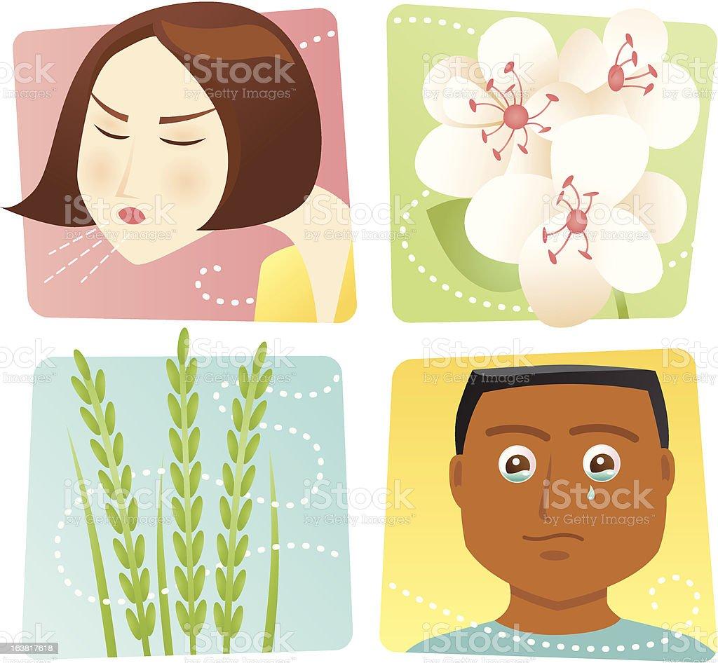Allergies vector art illustration