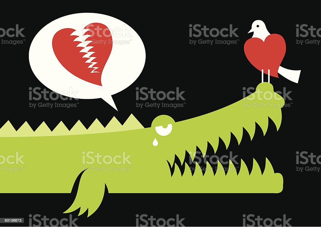 Alligator in love royalty-free alligator in love stock vector art & more images of alligator