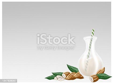 istock Almond milk, yogurt and coffee. Alternative organic milk products. No dairy allergy. 1347838357
