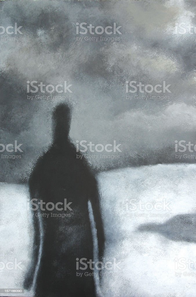 Alone vector art illustration