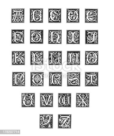 The Alphabet from Woodcut EngravingsThis copy was printed in 1845