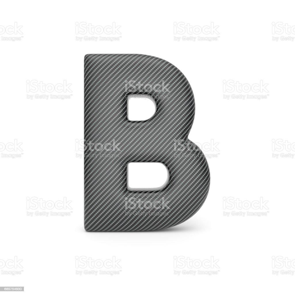 Alphabet made of Carbon fiber, letter B. alphabet made of carbon fiber letter b - stockowe grafiki wektorowe i więcej obrazów alfabet royalty-free