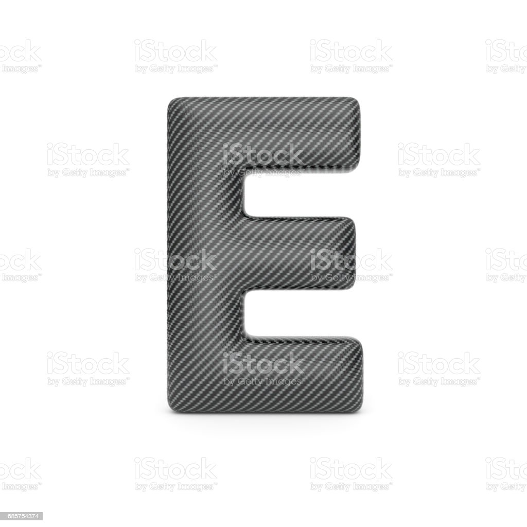 Alphabet made of Carbon fiber, letter E. alphabet made of carbon fiber letter e - immagini vettoriali stock e altre immagini di alfabeto royalty-free