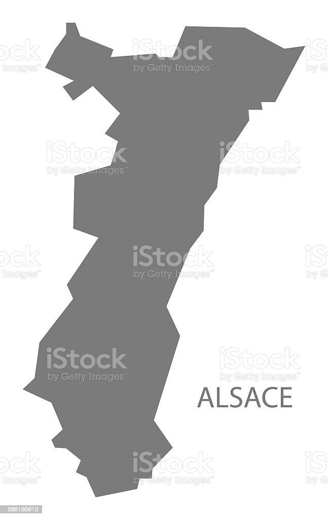 Alsace France Map grey - Illustration vectorielle