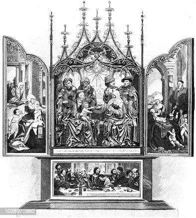 istock Altarpiece Ulm cathredal, Ulmer Münster, Germany 1038972982