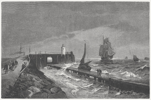Alte Liebe (Old Love, built 1733) near Cuxhaven, published 1882