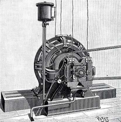 Alternating current dynamo machine
