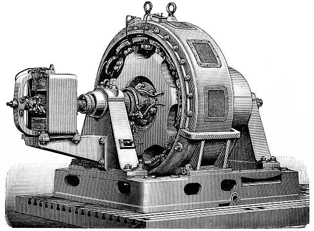 Alternating current generator vector art illustration