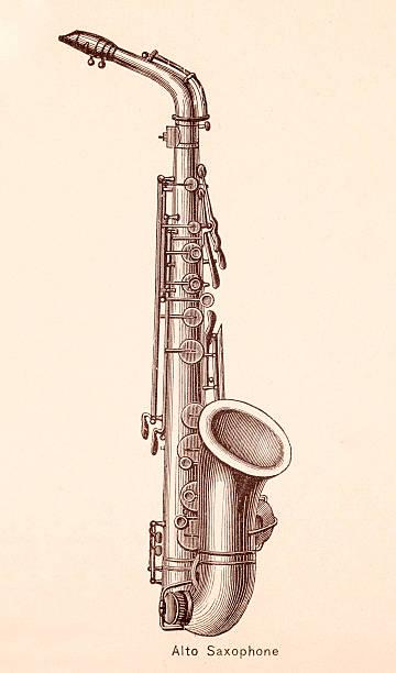 Alto Saxophone Illustrations, Royalty-Free Vector Graphics