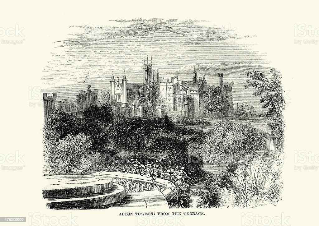 Alton Towers vector art illustration
