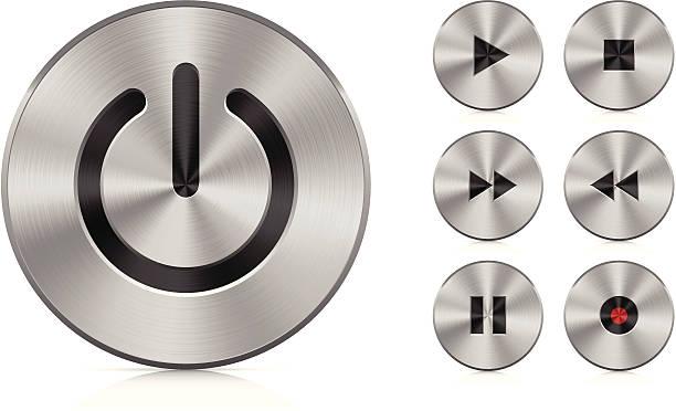 Aluminium buttons vector art illustration